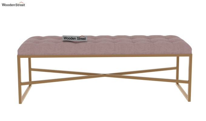 Floss Cross-Legged Bench (Salmon Pink)-3