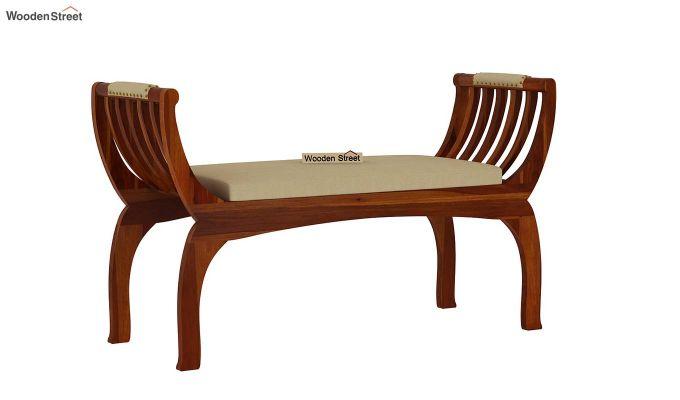 Marine Bench with Upholstery (Honey Finish)-3