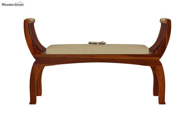 Marine Bench with Upholstery (Honey Finish)-4