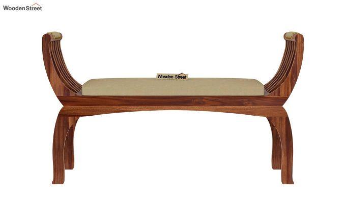 Marine Bench with Upholstery (Teak Finish)-4