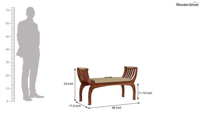 Marine Bench with Upholstery (Teak Finish)-5