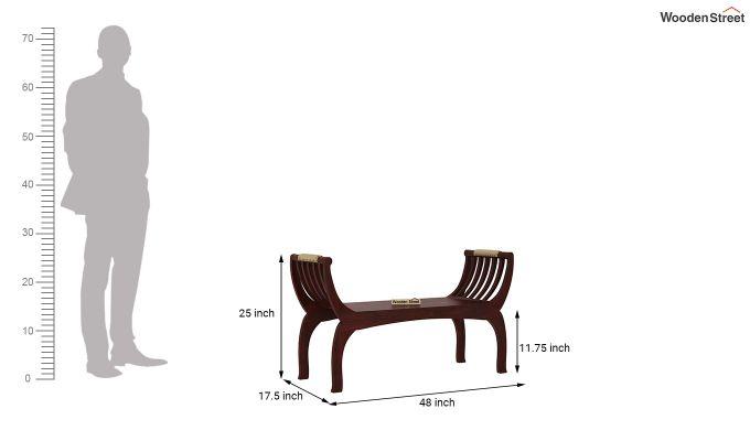 Marine Bench without Upholstery (Mahogany Finish)-3