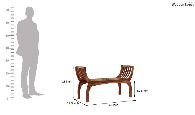 Marine Bench without Upholstery (Teak Finish)-5