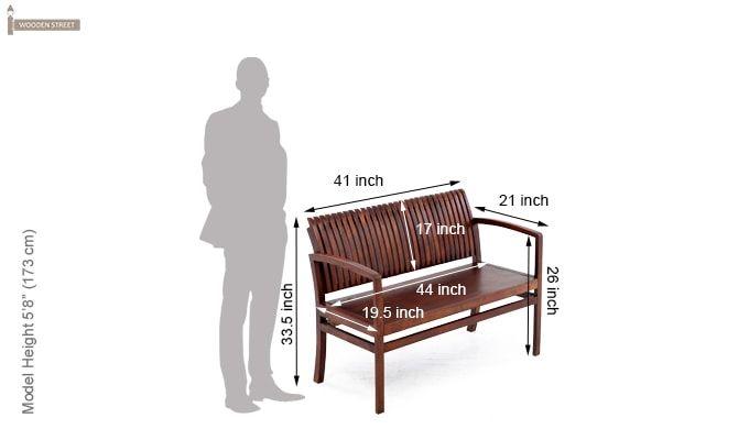 Morton Sofa Bench (Honey Finish)-13