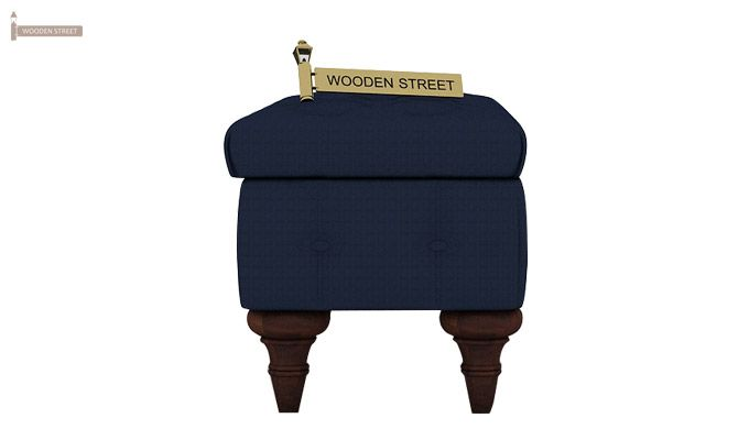 Petrona Bench With Storage (Indigo Ink, Walnut Finish)-5