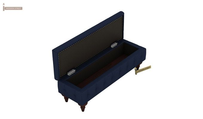 Petrona Bench With Storage (Indigo Ink, Walnut Finish)-7