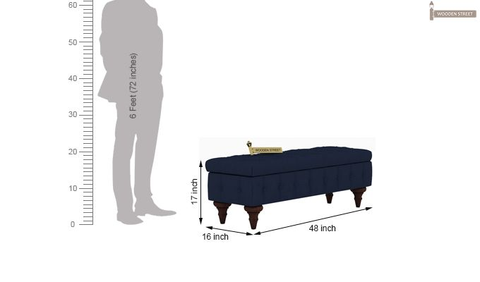 Petrona Bench With Storage (Indigo Ink, Walnut Finish)-8