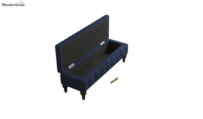 Petrona Bench With Storage (Indigo Ink, Walnut Finish)-5