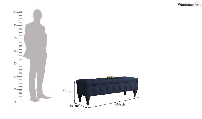 Petrona Bench With Storage (Indigo Ink, Walnut Finish)-6