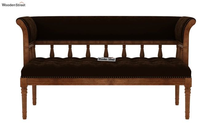 Reyes Bench With Back Rest (Chocolate Brown)-4