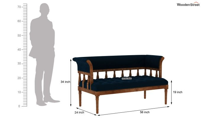 Reyes Bench With Back Rest (Indigo Blue)-6