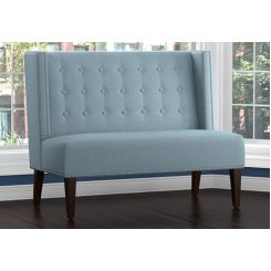 Rhodan Fabric Bench With Back Rest