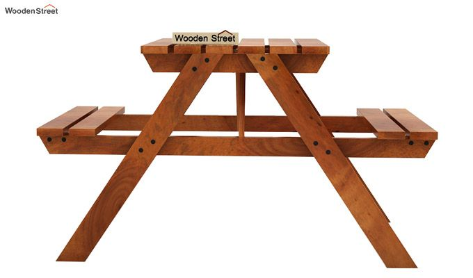 Soho Two Seater Bench (Honey Finish)-2