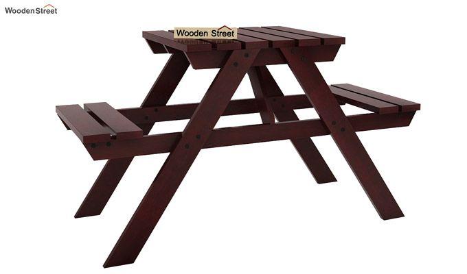 Soho Two Seater Bench (Mahogany Finish)-1