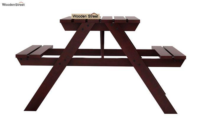 Soho Two Seater Bench (Mahogany Finish)-2