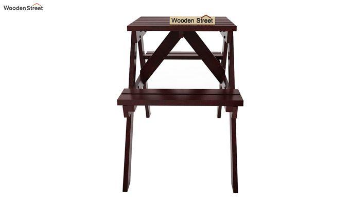 Soho Two Seater Bench (Mahogany Finish)-3