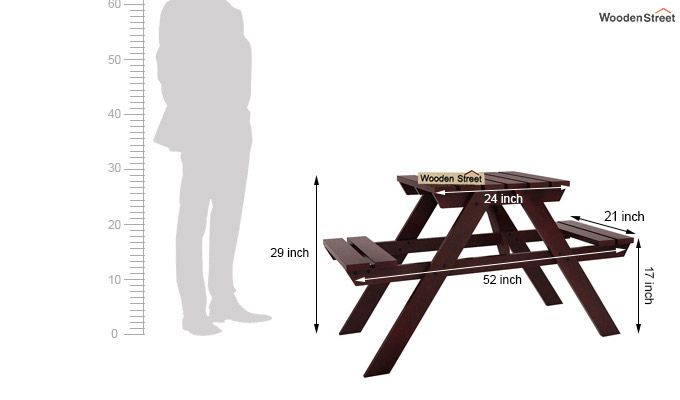 Soho Two Seater Bench (Mahogany Finish)-5
