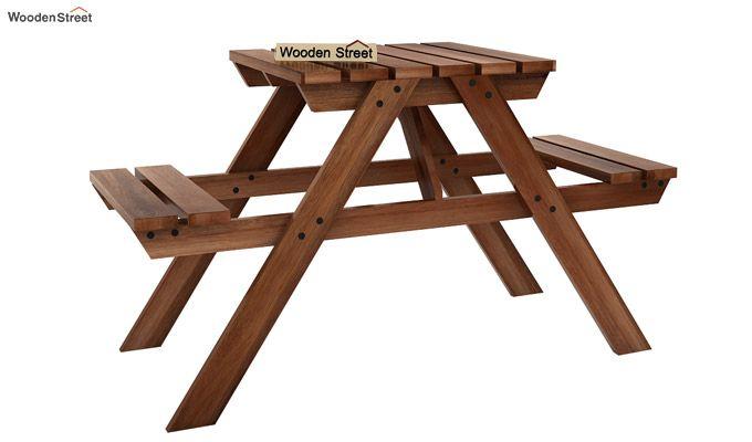 Soho Two Seater Bench (Teak Finish)-1