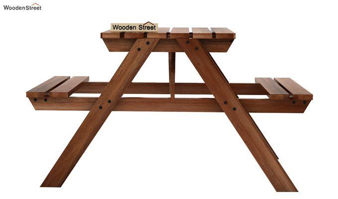Soho Two Seater Bench (Teak Finish)-2