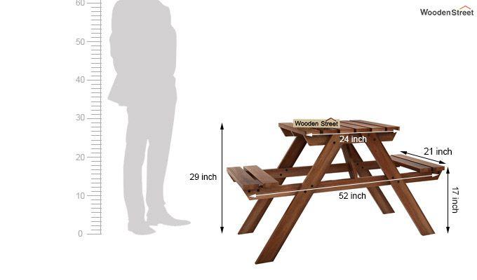 Soho Two Seater Bench (Teak Finish)-5