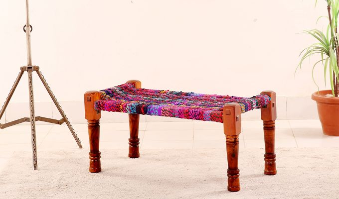 Welma Small Multicoloured Bench-1