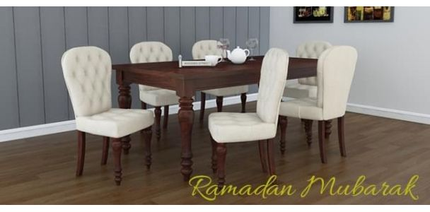Dinner table etiquette for an Iftaar party during Ramadan