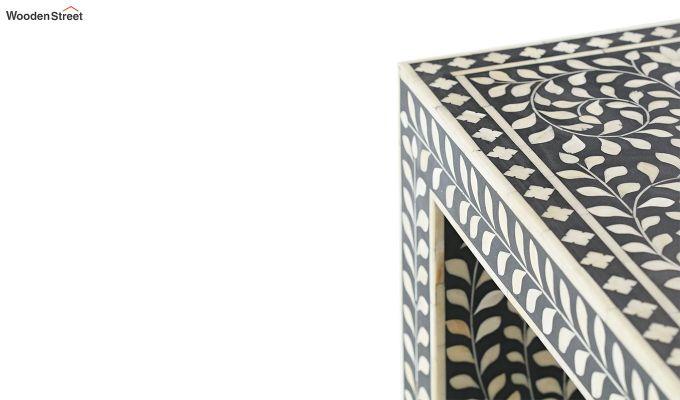 Azul Bone Inlay Console Table (Black Finish)-4