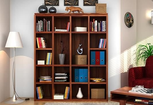 Bookshelves buy wooden bookshelf book rack online at rs for Read your bookcase buy