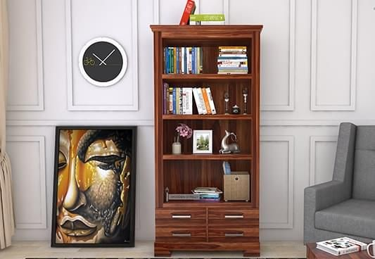 Wooden bookshelf online, Book Shelf for sale in India