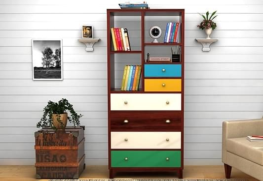 Wooden bookshelf designs