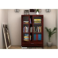 Heimo Bookshelf (Mahogany Finish)