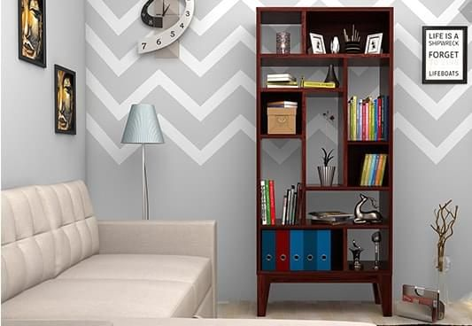 Bookshelves online India, wooden bookshelves for sale