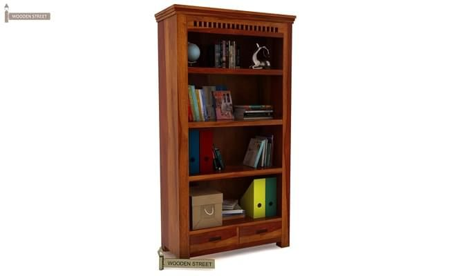 Adolph Book Shelves (Honey Finish)-2