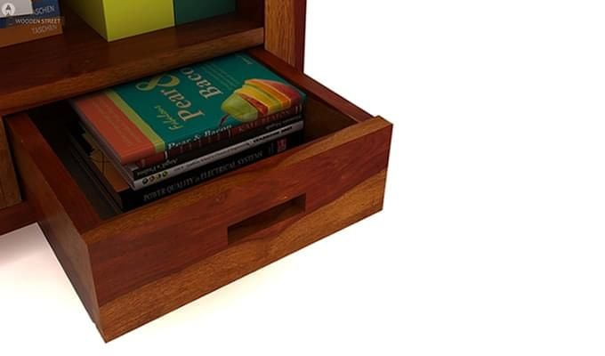 Adolph Book Shelves (Honey Finish)-7