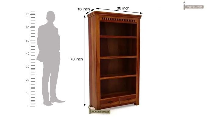 Adolph Book Shelves (Honey Finish)-8