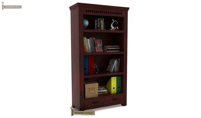 Adolph Book Shelves (Mahogany Finish)-1