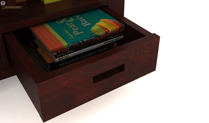 Adolph Book Shelves (Mahogany Finish)-5