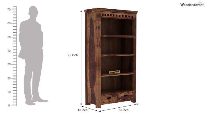 Adolph Book Shelves (Teak Finish)-6