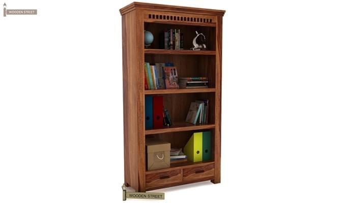 Adolph Book Shelves (Teak Finish)-1