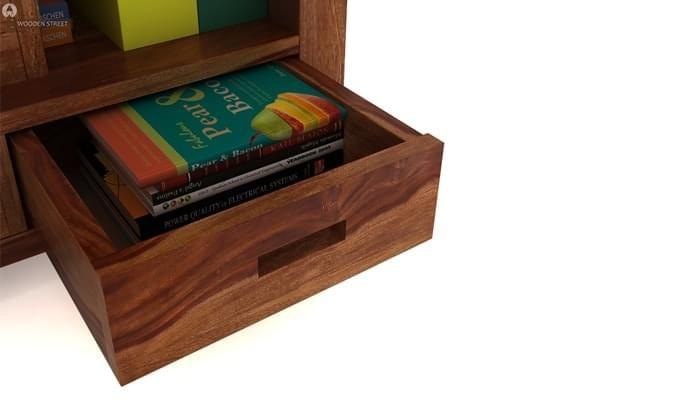 Adolph Book Shelves (Teak Finish)-5