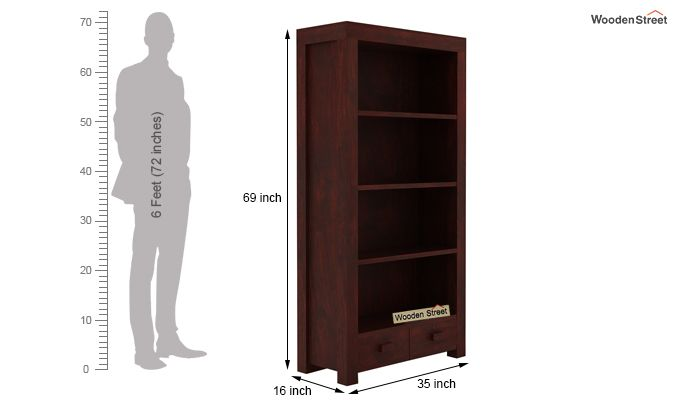 Anderson Book Shelf (Mahogany Finish)-5