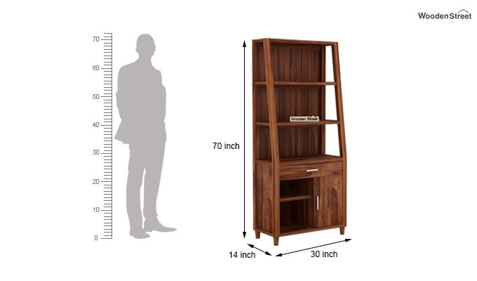 Arnold Bookshelf (Teak Finish)-6