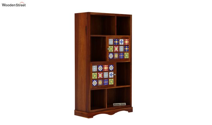 Boho Book Shelf (Honey Finish)-2