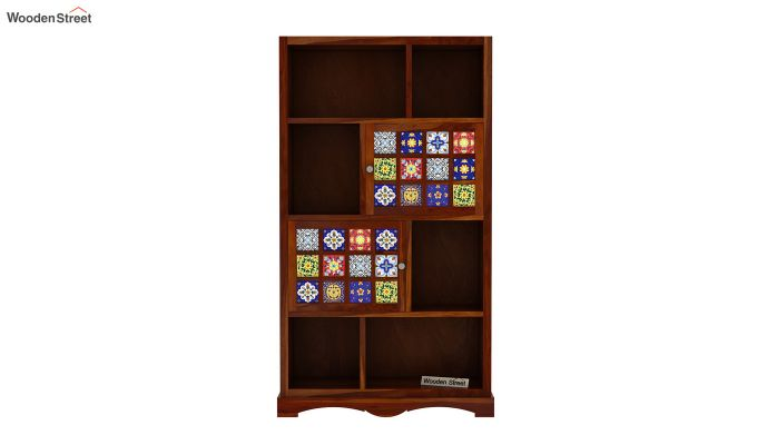 Boho Book Shelf (Honey Finish)-3