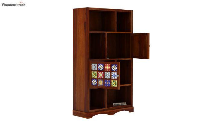 Boho Book Shelf (Honey Finish)-4