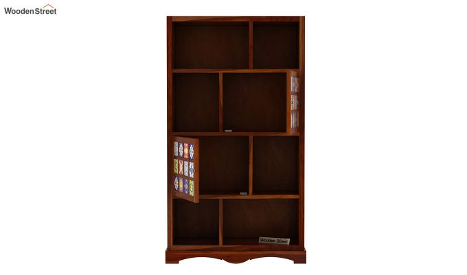 Boho Book Shelf (Honey Finish)-5