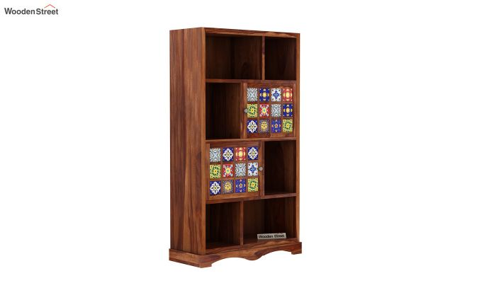 Boho Book Shelf (Teak Finish)-2