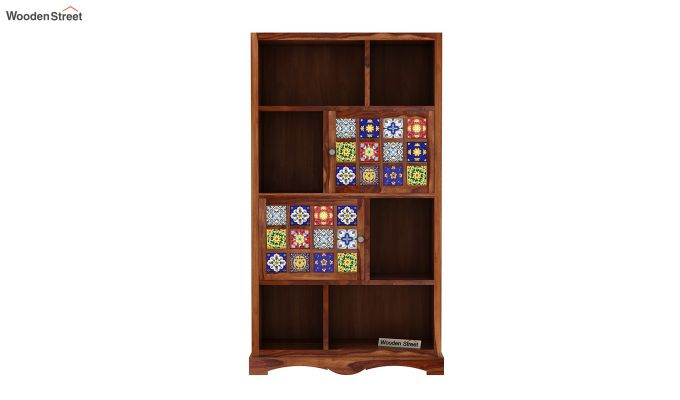 Boho Book Shelf (Teak Finish)-3
