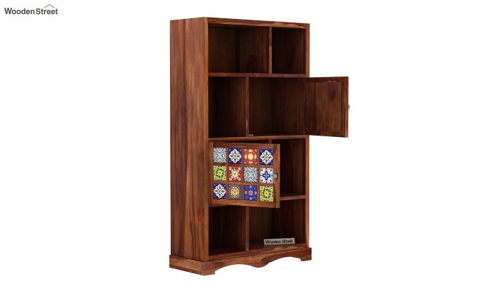 Boho Book Shelf (Teak Finish)-4