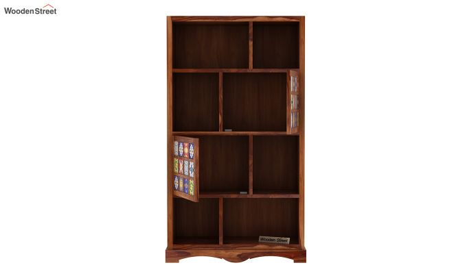 Boho Book Shelf (Teak Finish)-5